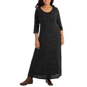 Hacci Knit Scoop-Neck Maxi Dress